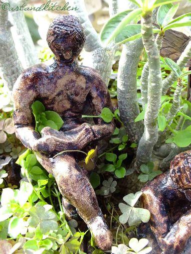reader in the green garden