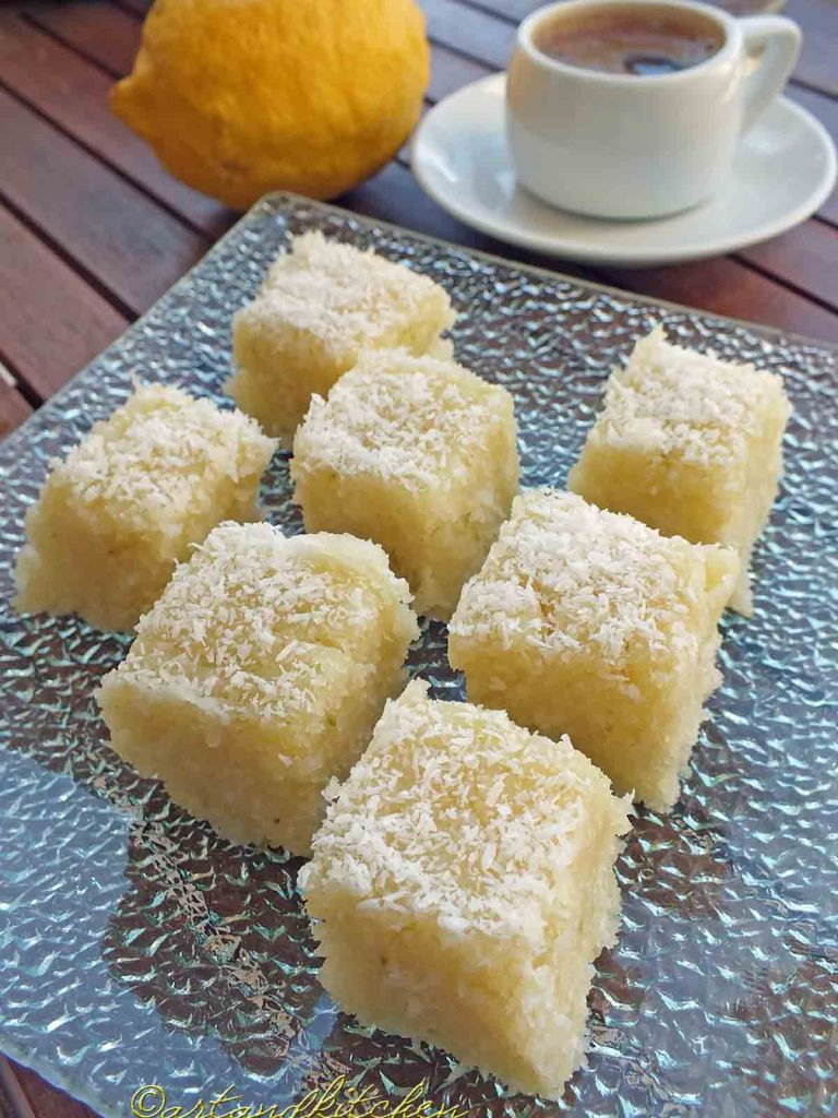 Coconut and lemon halva