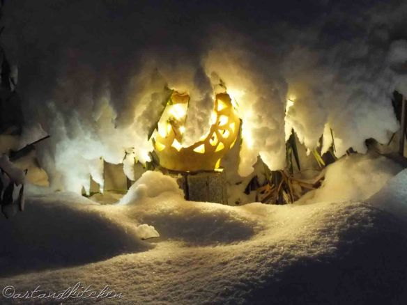 Night Light and Snow art