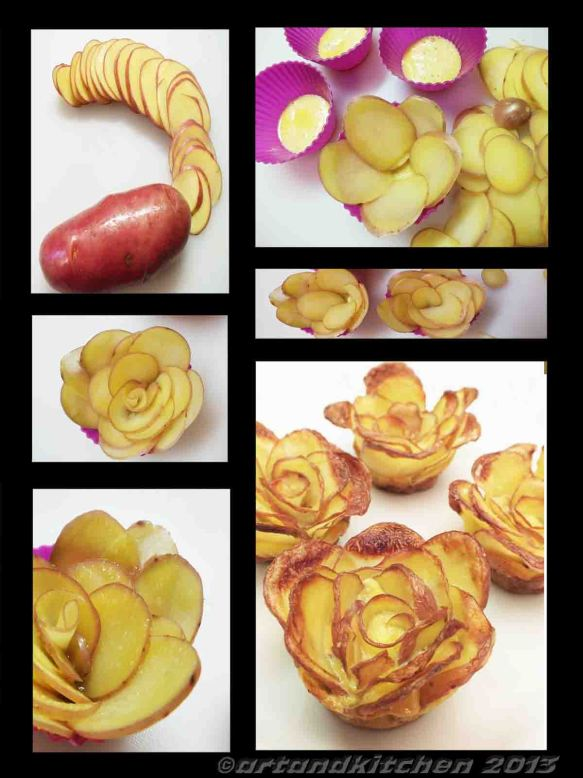 potatoes roses collage