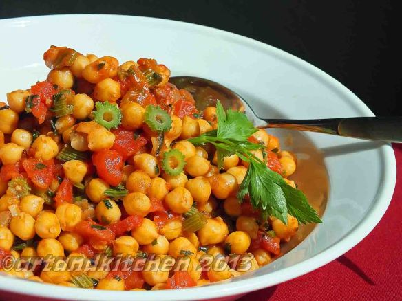 chickpeas with celery