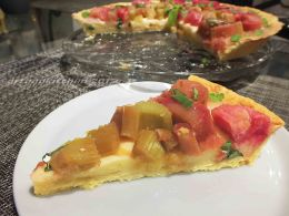 Gingered Rhubarb Tart with Mint 1