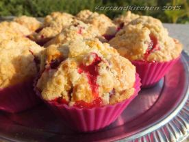 Jostaberry Muffins With Crumbles 1