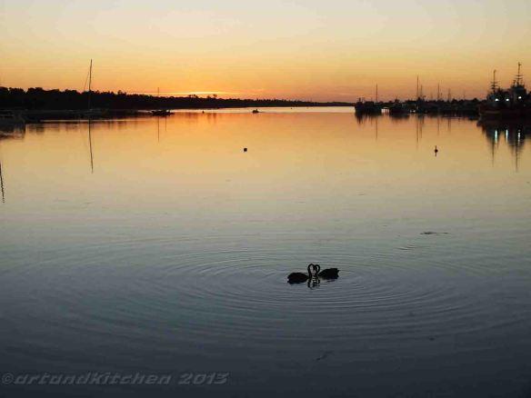 Lakes Entrance Swanes Sunset