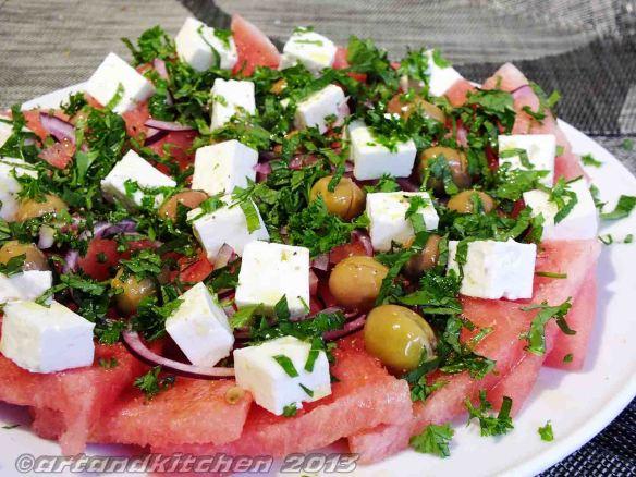watermelon salad with mint 2