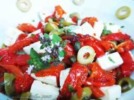 Marinated Feta Salad With Roasted Peppers 4