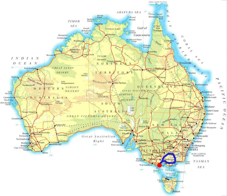 Melbourne-Lakes Entrance_Wangaratta_____Lorne