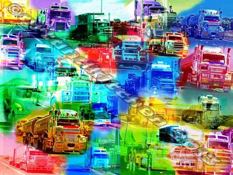 trucks collage of layers Australia