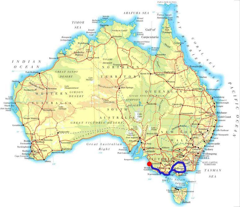 Melbourne-Lakes Entrance_Wangaratta_Lorne_Warranbool____Kingston