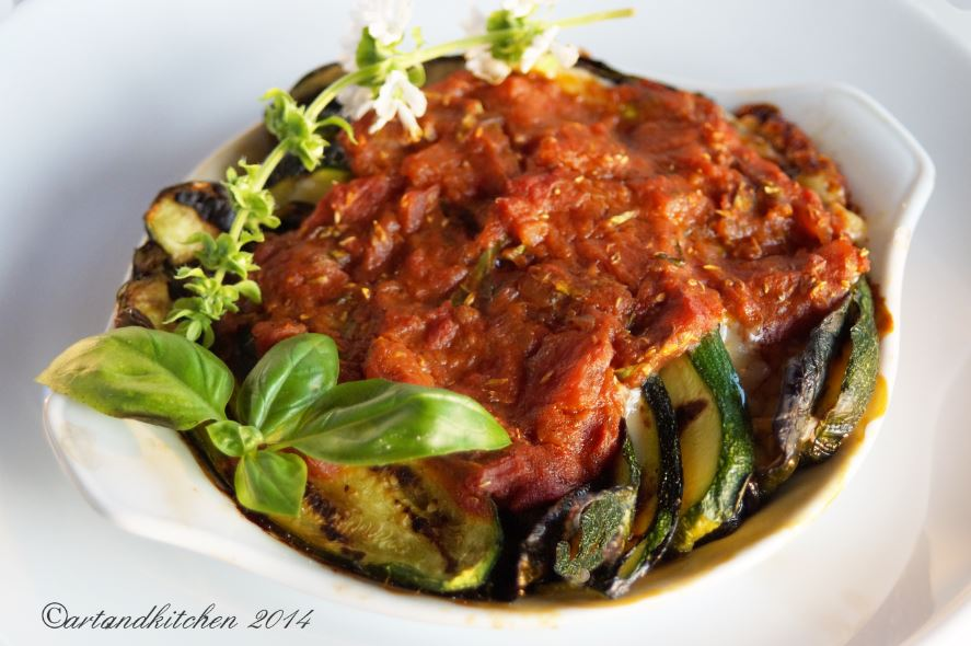 Light Eggplant or Zucchini Parmigiana