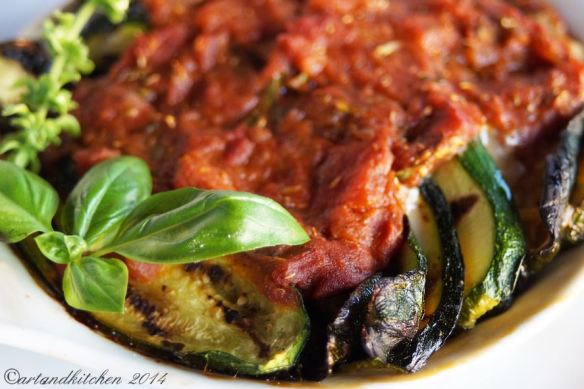 Light Eggplant or Zucchini Parmigiana 2