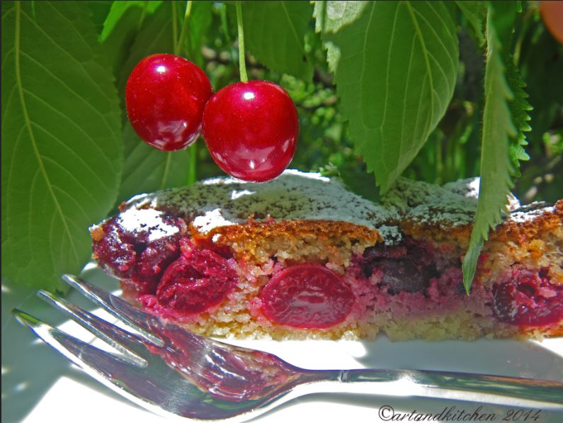Dolce Di Ciliegie - Italian Old Fashioned Cherries Cake