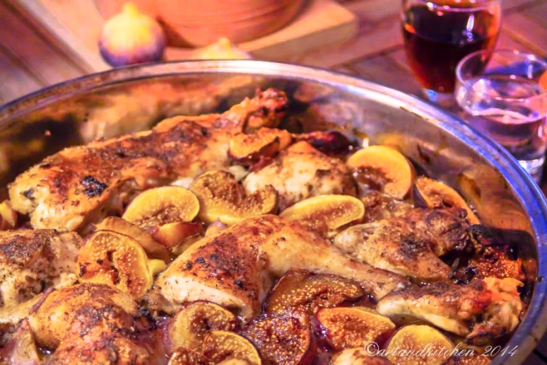 Chicken with fresh figs