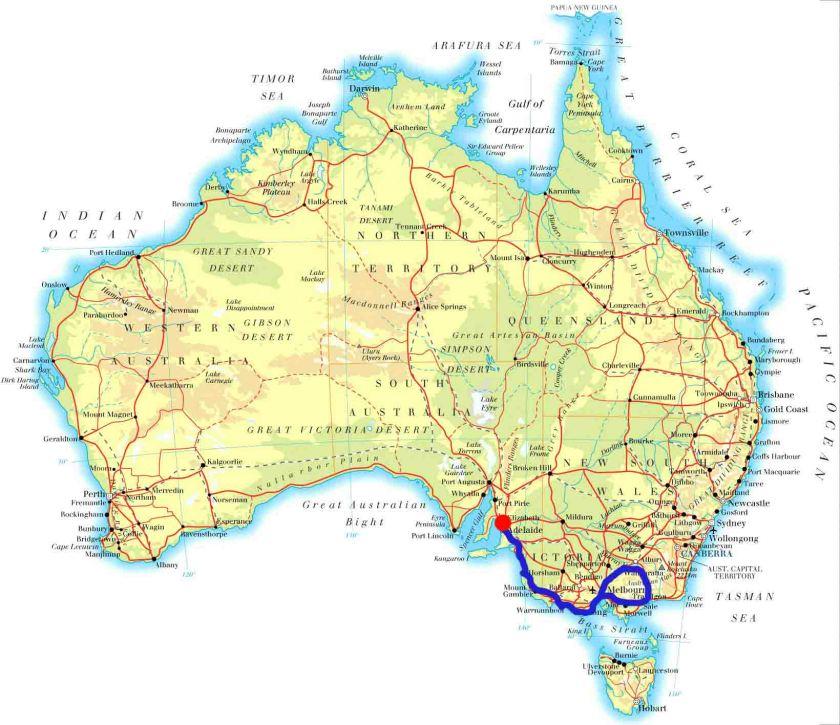 Melbourne-Lakes Entrance_Wangaratta_Lorne_Warranbool_Kingston____Adeleide