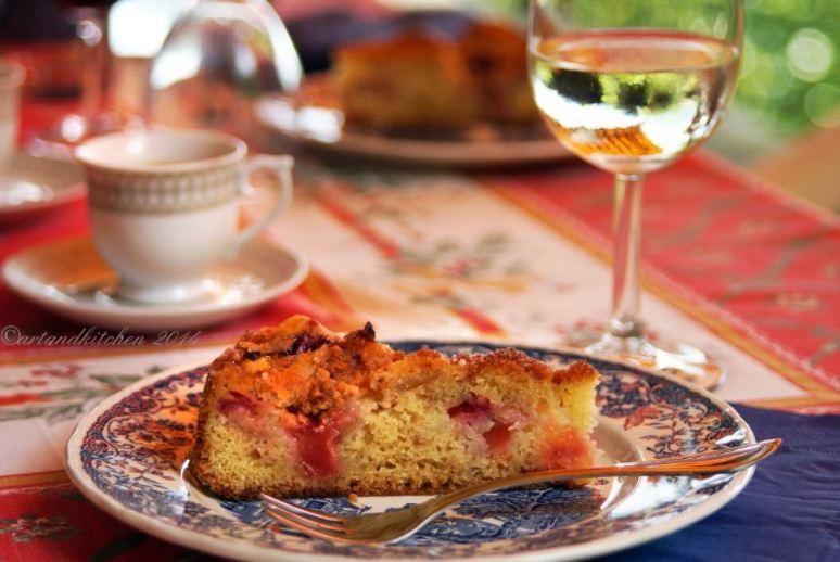 Nectarine Cake with Amaretti