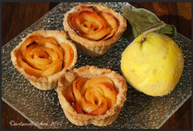 Quince Roses Tartlets