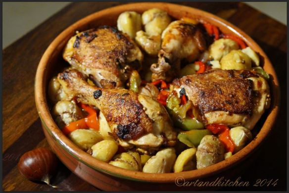Roasted Chickien with Chestnuts