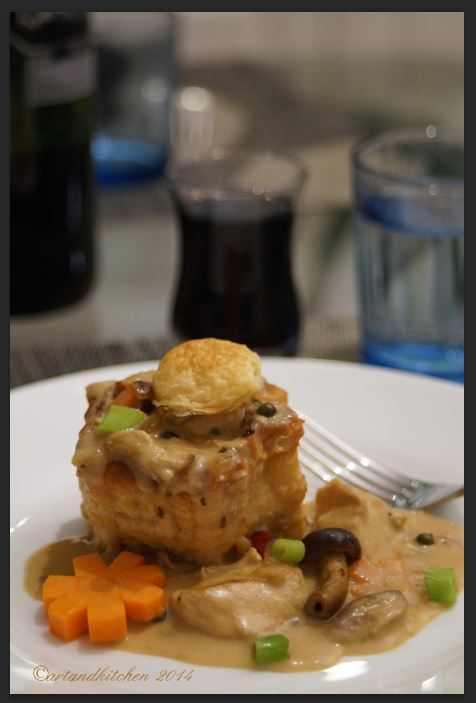 Chicken Vol Au Vent with Mushrooms