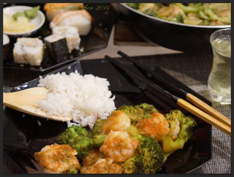 Shrimps and Broccoli Stir Fry