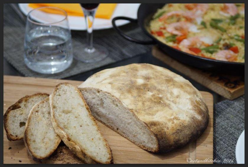 Sourdough Bread on Baking Stone ready to be enjoyed