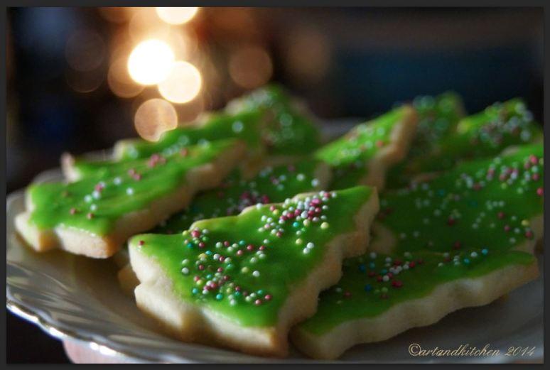 Sugar Cookies Christmas Trees