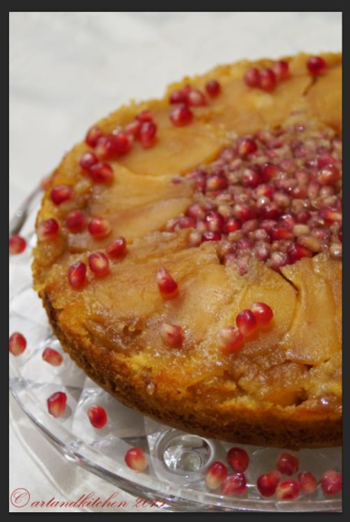 Apple and Pomegranate Upside Down Cake 2