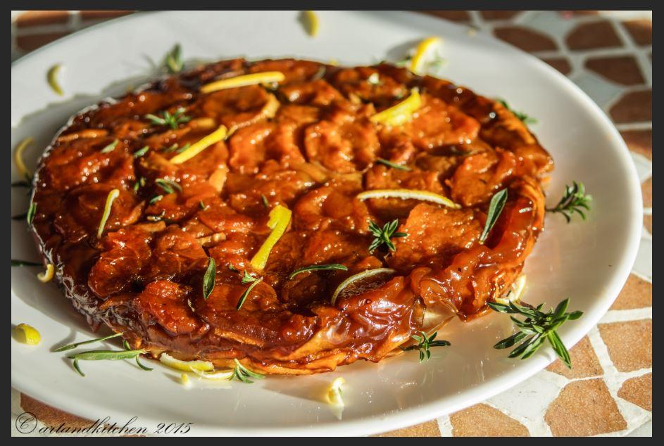 Apricot Tarte Tatin with Herbs | artandkitchen