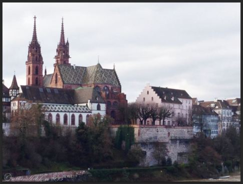 Basel Walking Tour January 2015 _ Münster from Wettsteinbrücke