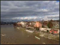 Basel Walking Tour January 2015 _ View from Wettsteinbrücke