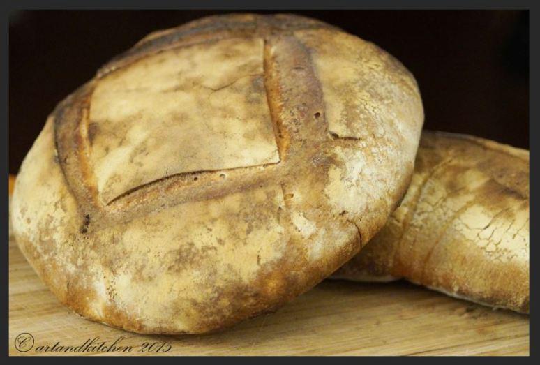 Sourdough Bread Baked in Wooden Oven 1