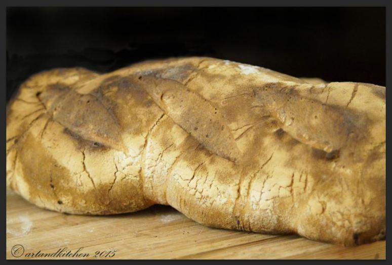 Sourdough Bread Baked in Wooden Oven 2