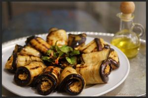 Eggplant Rolls with Chickpeas Filling 1