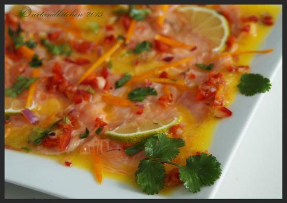 Trout Ceviche with Orange Juice 1