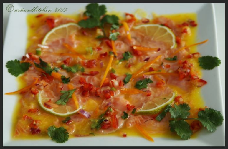 Trout Ceviche with Orange Juice 2