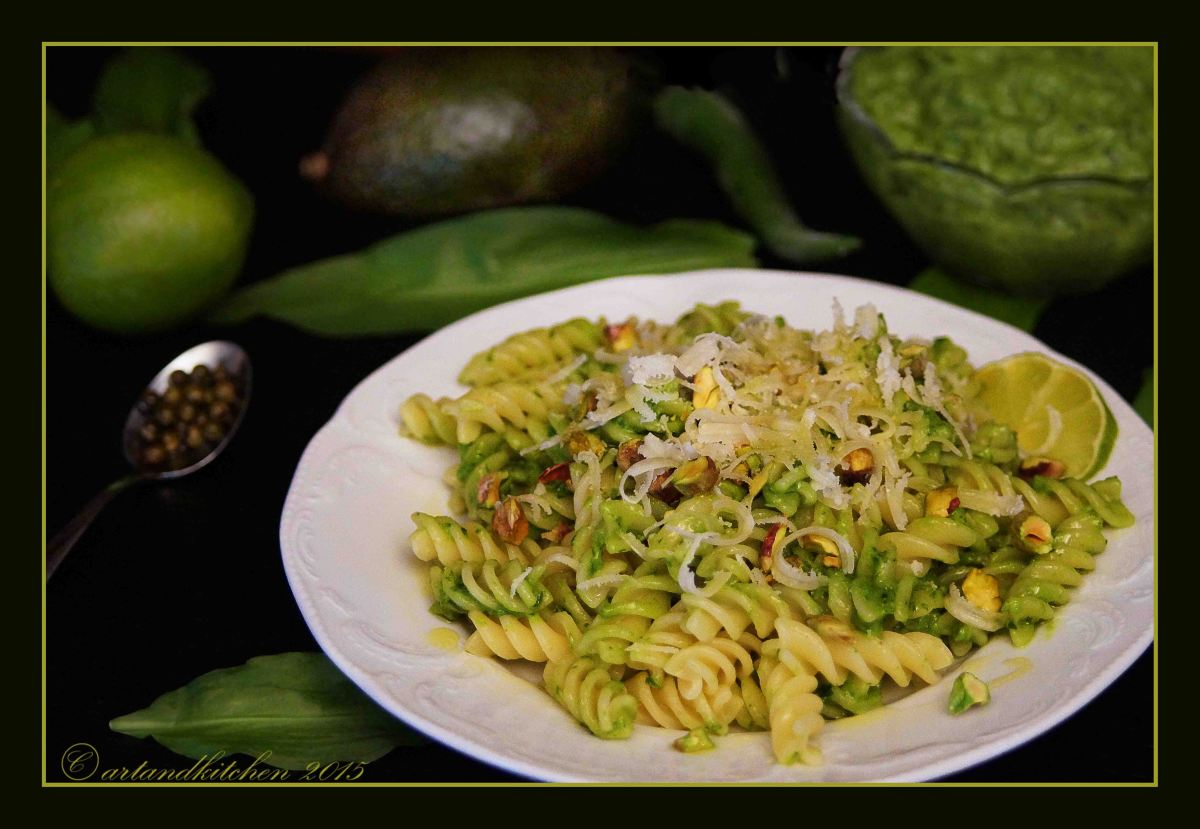 Avocado, Wild Garlic and Pistachio Pesto