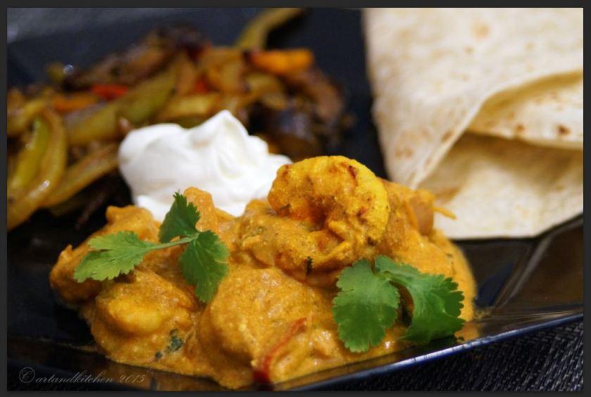 Prawn in Rich Yogurt Curry Sauce