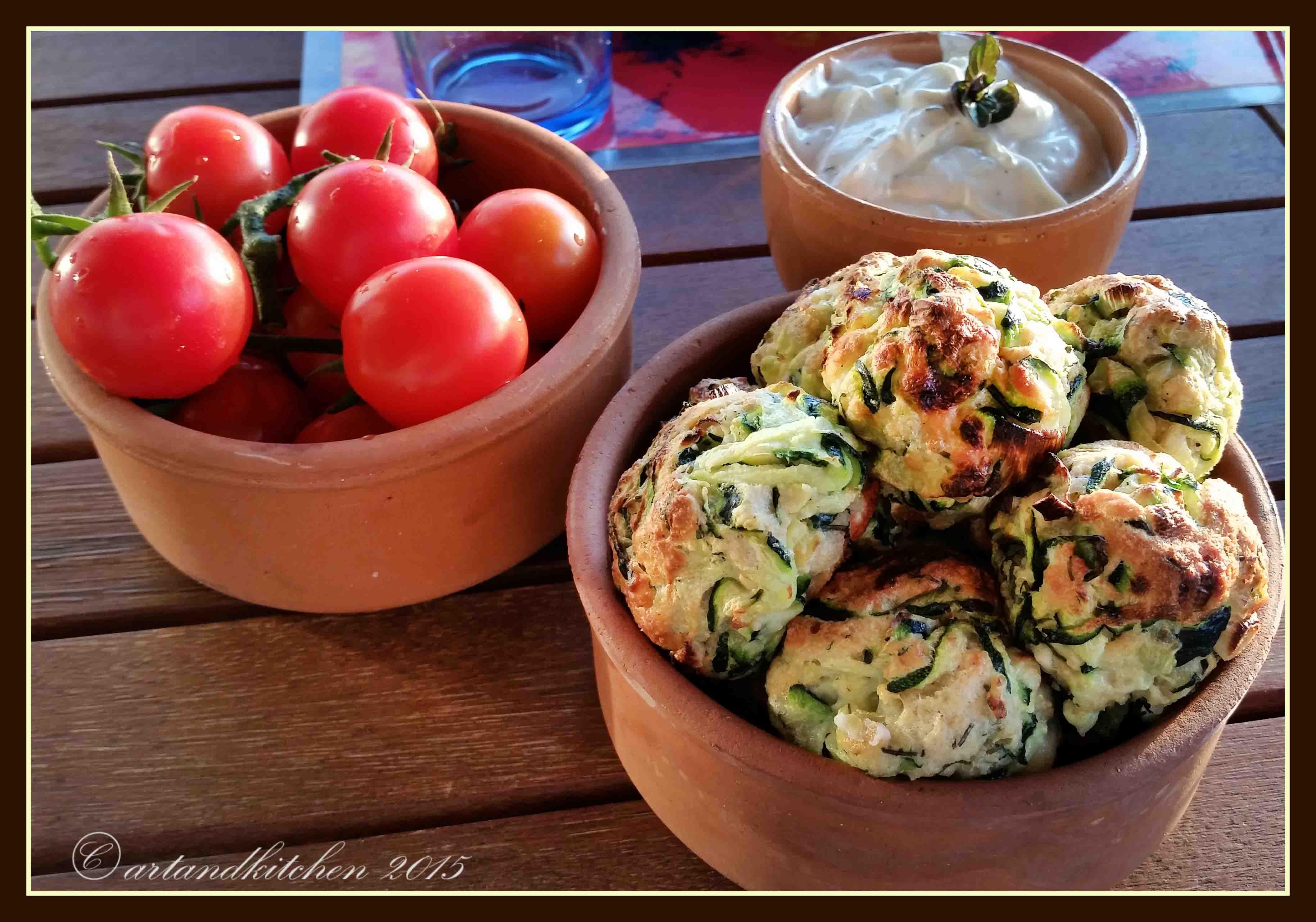 Kolokythokeftedes – Greek Zucchini and Feta Balls | artandkitchen