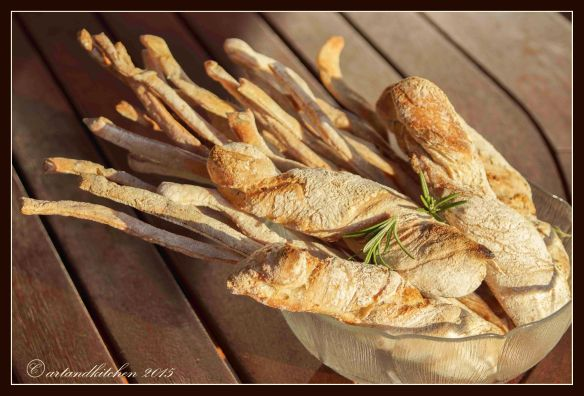 Rosemary Rolls and Rosemary Grissini