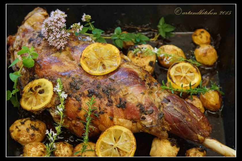 Slow-Roasted-Lamb-Leg-with-Potatoes-and-Herbs