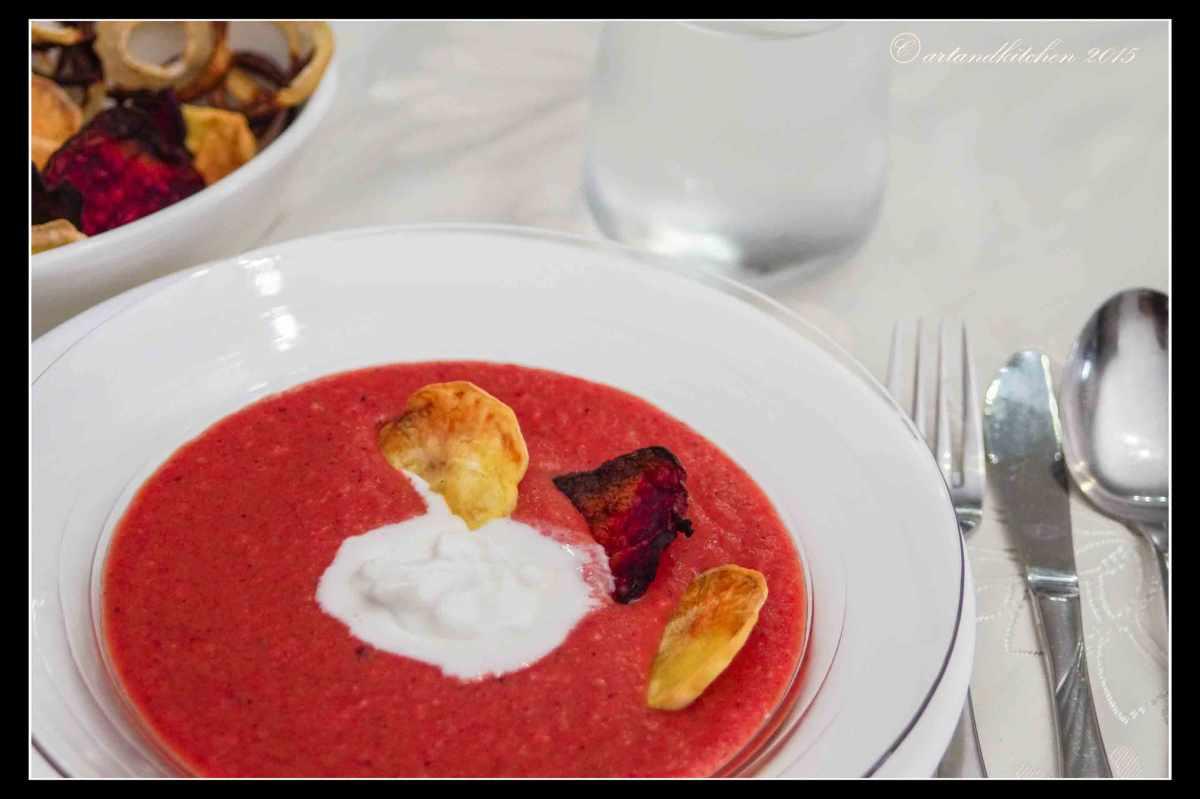 Beet Soup with VeggieChips